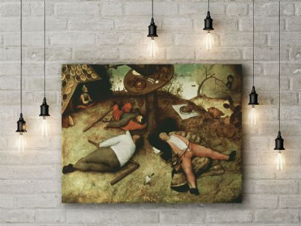 Pieter Bruegel: The Land of Cockaigne. Fine Art Canvas.